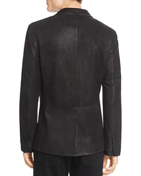John Varvatos Collection - Suede Hook And Bar Slim Fit Jacket