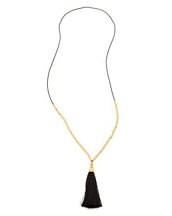 Gorjana - Tulum Tassel Necklace, 20""