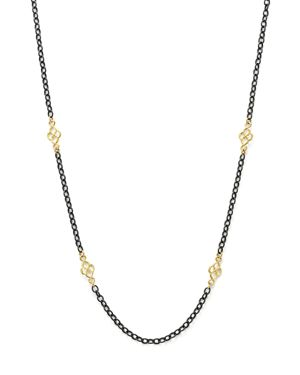 Armenta 18K Yellow Gold and Blackened Sterling Silver Old World Cable Chain Necklace, 18