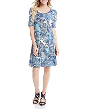 Karen Kane Paisley Print Swing Dress