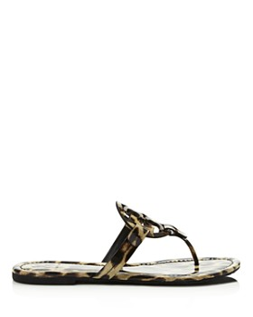 Tory Burch - Women's Miller Leopard Print Thong Sandals