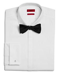HUGO - Matthew White Sharp Fit - Regular Fit Tuxedo Shirt