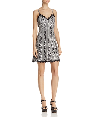 Alice + Olivia Alves Lace-Trim Dress