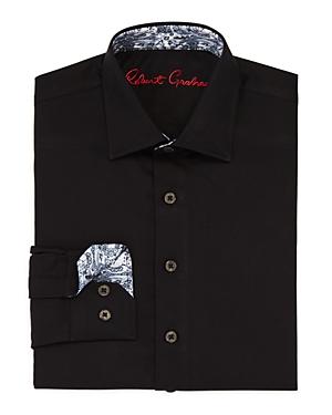 Robert Graham Boys' Joy Neat Texture Dress Shirt - Big Kid