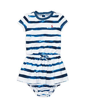 Ralph Lauren Childrenswear Girls' Tie Dye Stripe Shirt Dress & Bloomers Set - Baby