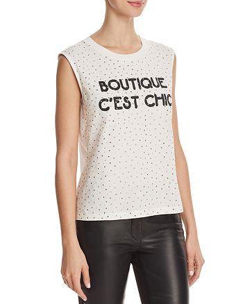 Boutique Moschino - Embellished Logo Tank