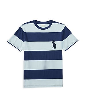 Ralph Lauren Childrenswear Boys' Jersey Stripe Tee - Big Kid
