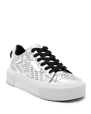 Kendall and Kylie Tyler Perforated Lace Up Platform Sneakers