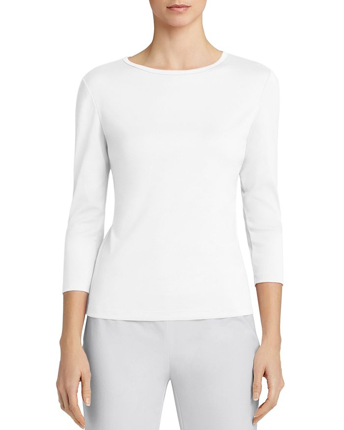 Lafayette 148 New York - Three-Quarter Sleeve Crewneck Tee