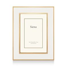 "Siena White Enamel with Gold Frame, 8"" x 10"" - Bloomingdale's_0"