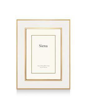 """Siena - White Enamel with Gold Frame, 8"""" x 10"""""""
