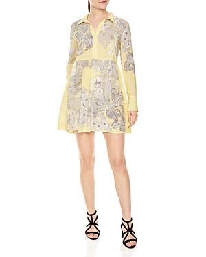 Sandro Harmony Printed Silk Mini Dress