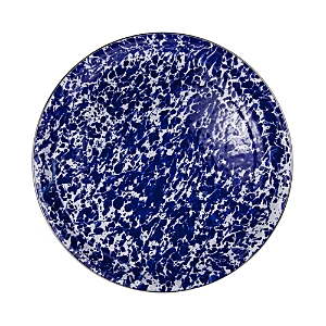Golden Rabbit Medium Cobalt Blue Enamel Tray
