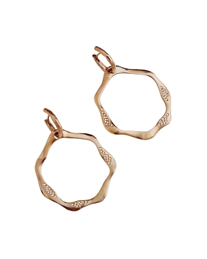 Antonini 18K Rose Gold Anniversary Open Drop Champagne Diamond Earrings