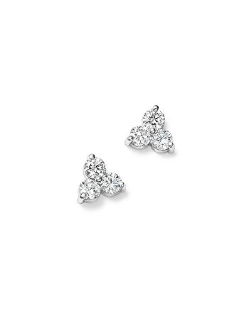 Bloomingdale's - Diamond Three Stone Stud Earrings in 14K White Gold, 0.90 ct. t.w. - 100% Exclusive