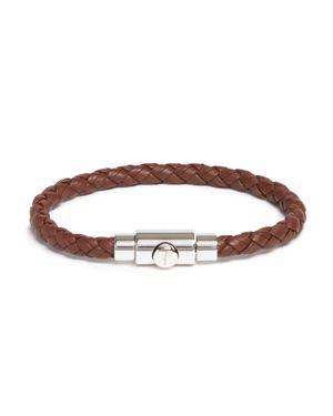 Salvatore Ferragamo Woven Bracelet with Prong Closure