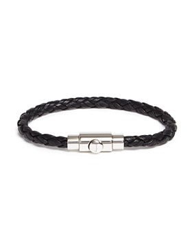 Salvatore Ferragamo - Woven Bracelet with Prong Closure