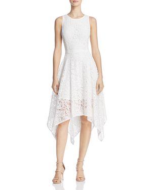 nanette Nanette Lepore Handkerchief-Hem Lace Dress