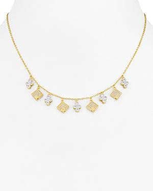 Freida Rothman Visionary Fusion Charm Fringe Necklace, 15