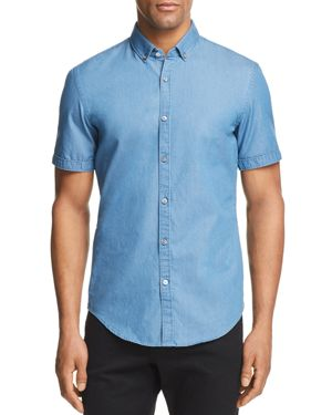Boss Hugo Boss Rik Chambray Slim Fit Button-Down Shirt