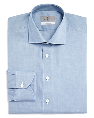 Canali Impeccabile Micro Check Regular Fit Dress Shirt