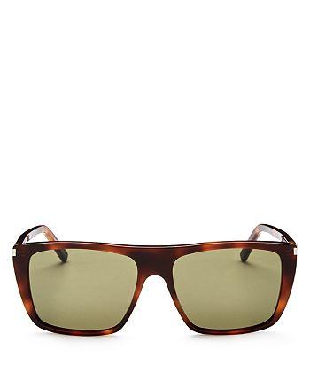 Saint Laurent - Men's Flat Top Square Sunglasses, 56mm