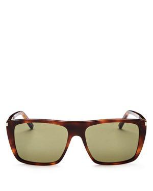 Saint Laurent Flat Top Square Sunglasses, 56mm