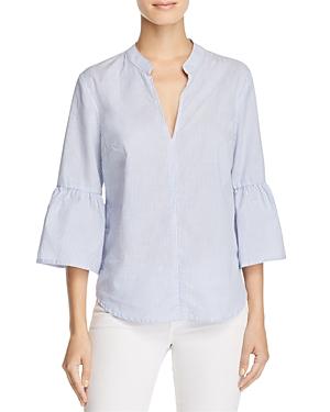 Splendid Striped Flare-Sleeve Poplin Shirt