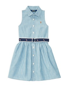 Polo Ralph Lauren Girls' Belted Chambray Shirtdress - Little Kid - Bloomingdale's_0