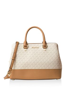 Michael Michael Kors Savannah Logo Large Satchel