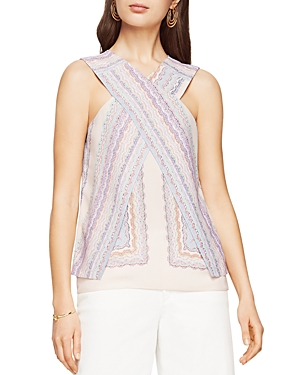 Bcbgmaxazria Maryssa Cross-Front Printed Top