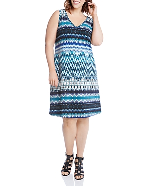 Karen Kane Plus Bridgitte Batik Stripe Dress