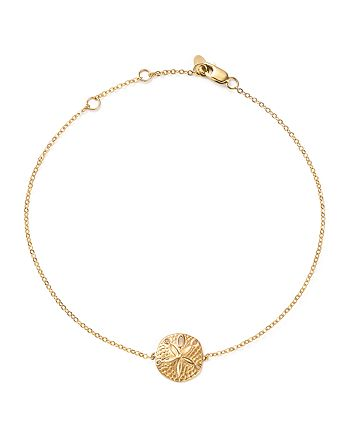 Bloomingdale's - 14K Yellow Gold Sand Dollar Ankle Bracelet - 100% Exclusive