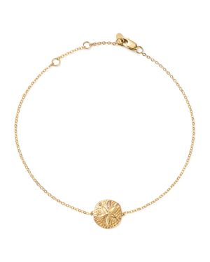 14K YELLOW GOLD SAND DOLLAR ANKLE BRACELET - 100% EXCLUSIVE