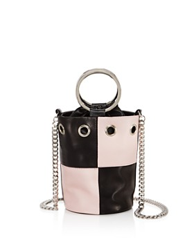 Delphine Delafon - Ring Handle Small Leather Bucket Bag
