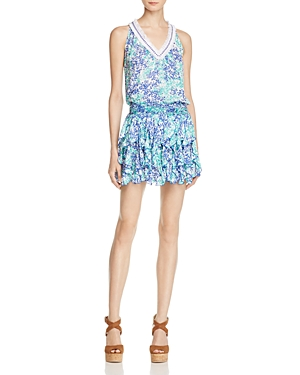 Poupette St. Barth Printed Blouson Dress