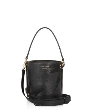 meli melo Santina Plant Mini Leather Bucket Bag