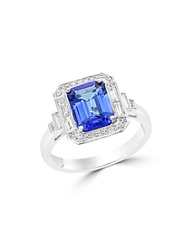Bloomingdale's - Tanzanite and Diamond Statement Ring in 14K White Gold - 100% Exclusive