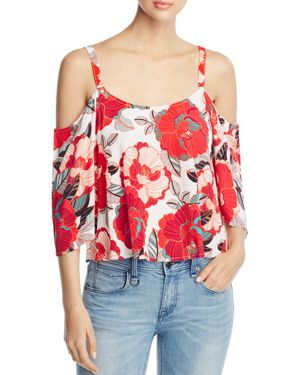 cupcakes and cashmere Fay Cold-Shoulder Top