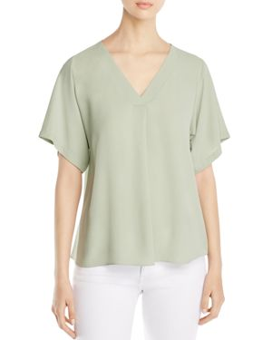 Eileen Fisher Silk V-Neck Top