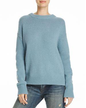 Vince Drop-Shoulder Cashmere Sweater