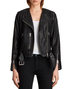 Allsaints Balfern Collarless Biker Jacket