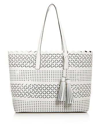 Milly Laser Cut Leather Tote