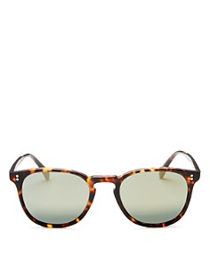 Oliver Peoples - Men's Polarized Finley Esq. Mirrored Sunglasses, 51mm