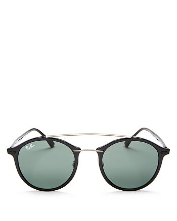 Ray-Ban - Unisex Brow Bar Round Sunglasses, 48mm