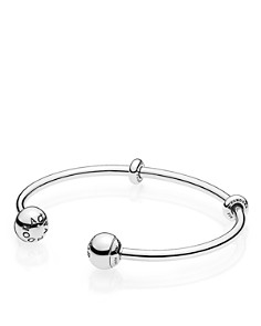 PANDORA - Sterling Fast Track Collection Silver Open Bangle