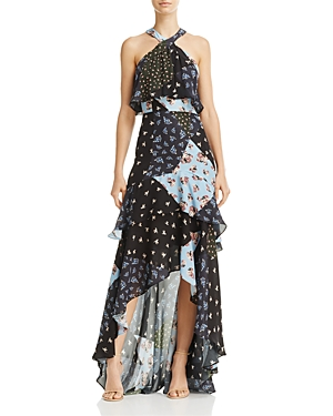 Parker Fillipa Silk Ruffle Maxi Dress