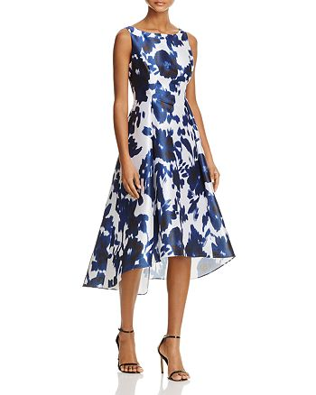 Adrianna Papell - Abstract Floral High/Low Dress - 100% Exclusive
