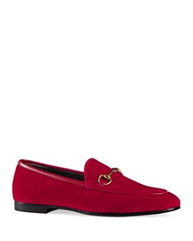 Gucci - Women's Jordan Velvet Loafers