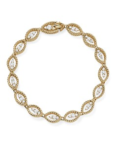 Roberto Coin - 18K White and Yellow Gold New Barocco Diamond Bracelet